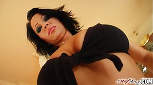Milf Thing MILF Threesome for cock loving mature chick Andrea Frowning