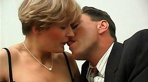 Short haired french milf in stockings gets say no to ass pounded and facialized