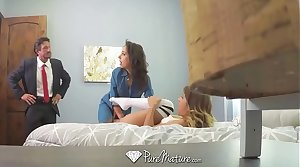 PureMature Busty MILF Unassailable Edge fuck and facial onwards conjugal festivities