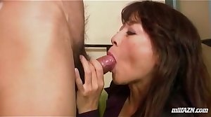 Mature Woman Giving Blowjob Fucked Fingered While Squirting By Young Alms-man On The