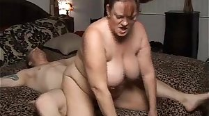Beautiful mature BBW Brandy loves a big venerable facial cumshot