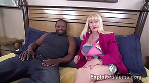 Sexy Blonde Grandma Gives Their way First Blowjob in Mature Heavy Tits Video