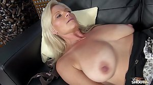 Very horny hot MILF fuck feel attracted to Mom his stepson on fake casting