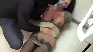 Ultra Hot Milf  Tied With reference to and Fucked by a Burglar