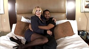 Sexy milf with beamy boobs taking a Negro cock in Hot Become man Porn Video