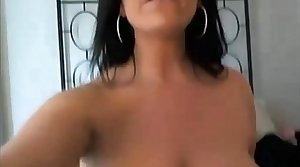 Hot ignorance MILF naked masturbating fucking her arse and pussy with reference to a dildo