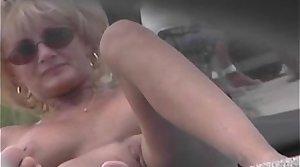 Nude Beach Voyeur Video - Cougar MILF Empty At An obstacle Nude Beach