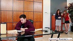 Milf office babes Darla Elevator and Syren De Mer share dick