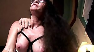 Horny old spunker in sexy underwear loves a sticky facial cumshot