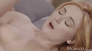 MOM Sexy Russian redhead milf in lingerie and heels loves to light of one's life
