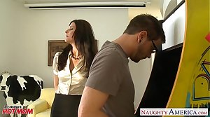 Stockinged maw India Summer gets fucked and facialized