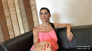 Phthisic amateur french milf ass hammered with cum in mouth for her casting couch