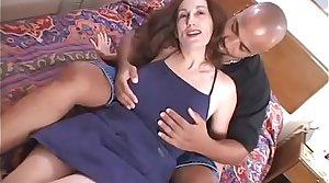 Older Mom loves sucking a Big Black Cock alongside Interracial Video