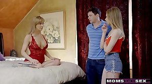 MomsTeachSex - Busty MILF Gets Hot Mother's Boyfriend Threesome! S8:E4