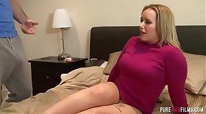 Horny mom gets caught masturbating