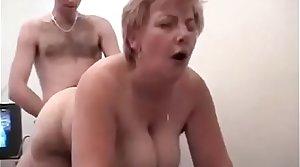 Son fucks mom while dad films