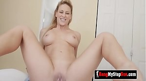 Grown up PERV teases husband's son to LOAD her pussy with his CUM