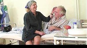Granny watches grandpa fucks nurse in sanitarium
