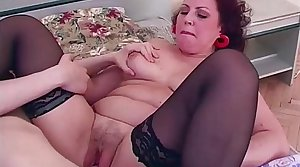 Full-grown In Sexy Stockings Riding Hard Dick