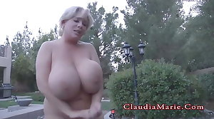Claudia Marie Chubby And Has The brush Huge Fake Chest Destroyed