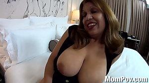 HUGE natural tits Latina MILF