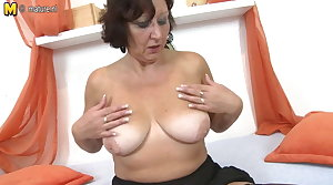 Real Granny carrying-on to her old wringing wet pussy