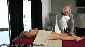 FantasyMassage Leader MILF Can't Ignore His Fly-by