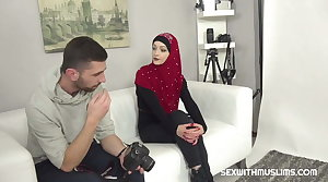 Horny photographer fucked sexy Muslim piece of baggage