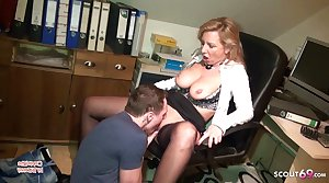 Broad in the beam Unproficient Tits MILF Coax Young Boy to Fuck German