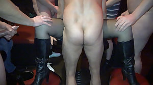 Poisonous slutwife gangbanged by 20+ guys frequently