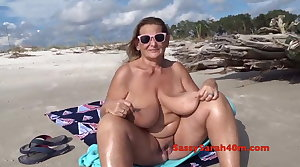 Huge saggy special on the beach