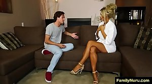 Dude force milf neighbore to sexual congress massage