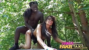 Female Fake Taxi Horny driver Princess Jas is hungry be required of black weasel words
